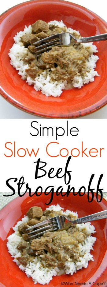 Simple Slow Cooker Beef Stroganoff | Who Needs A Cape?