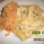 Green Chile Chicken Enchiladas