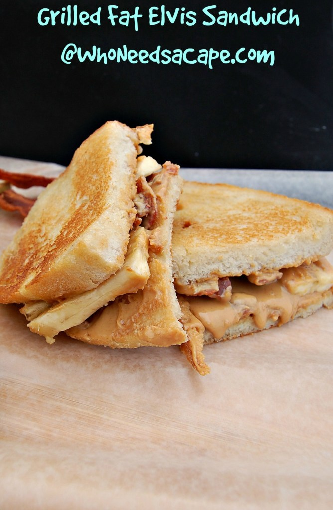 Whether it's dinner or lunch - you have to make the amazing Grilled Fat Elvis Sandwich - filled with Peanut Butter, Bacon and Banana it's SO GOOD!