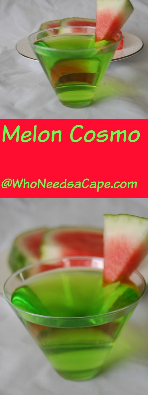 Drink a Melon Cosmo and get the fun of a Cosmo with an updated fresh melon taste! Have a great party with this pretty cocktail!