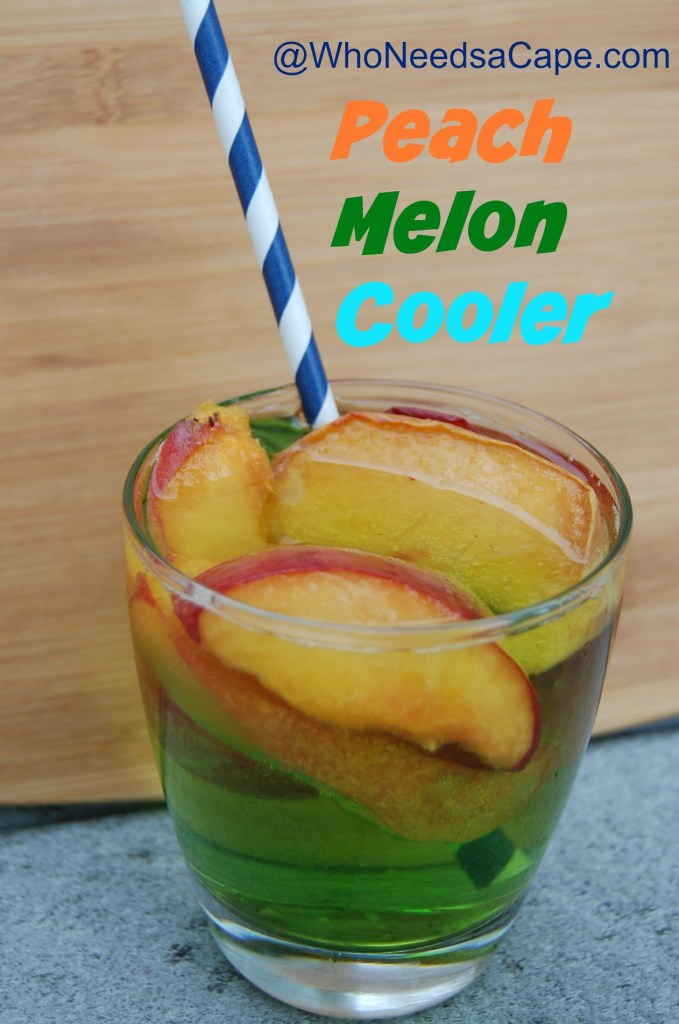 Peach Melon Cooler is a light, fruity cocktail. It's a taste of summer in a glass – serve it at your next brunch or BBQ (or even happy hour!)