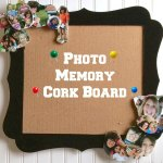 DIY Graduation Gift Photo Memory Corkboard