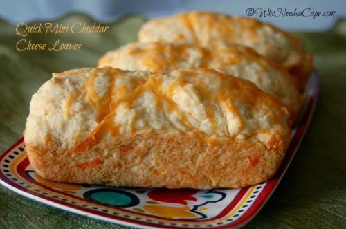 Quick Mini Cheddar Cheese Loaves 2