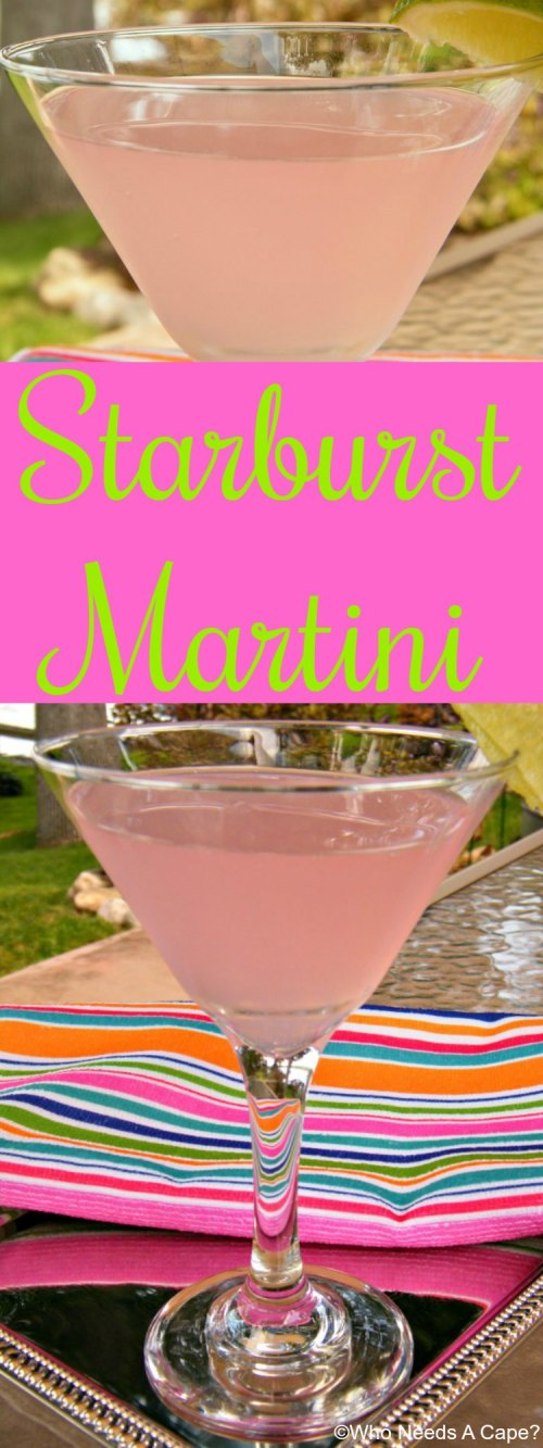 This Starburst Martini is a fun and flavorful cocktail that will remind you of the light pink Starburst candy. Super yummy, you'll love the flavor.