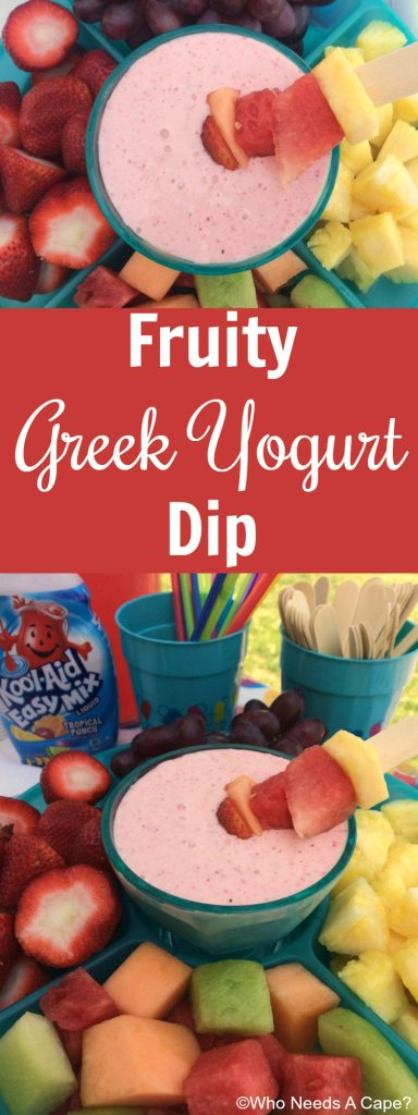 Fruity Greek Yogurt Dip | Who Needs A Cape?