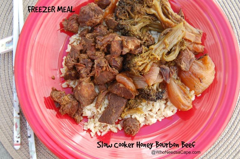 Slow Cooker Honey Bourbon Beef