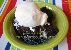 Slow Cooker Triple Chocolate Nutty Pudding Cake
