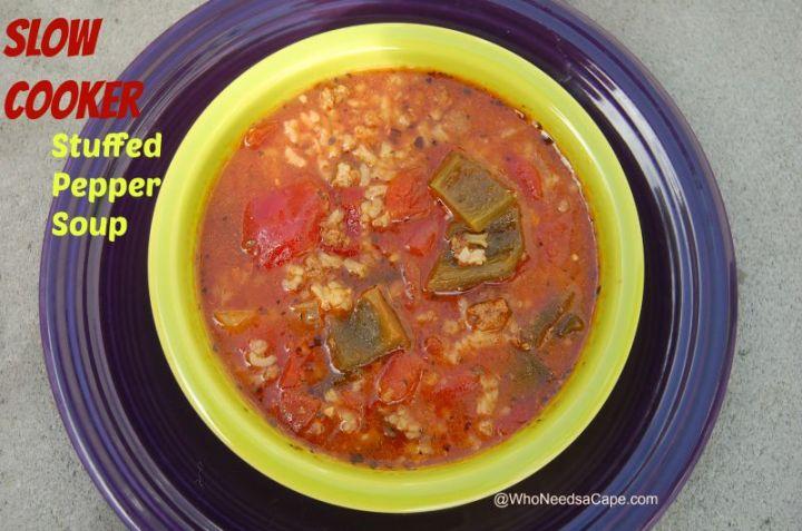 Slow Cooker Stuffed Pepper Soup