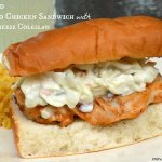 Grilled Buffalo Chicken Sandwiches with Blue Cheese Coleslaw