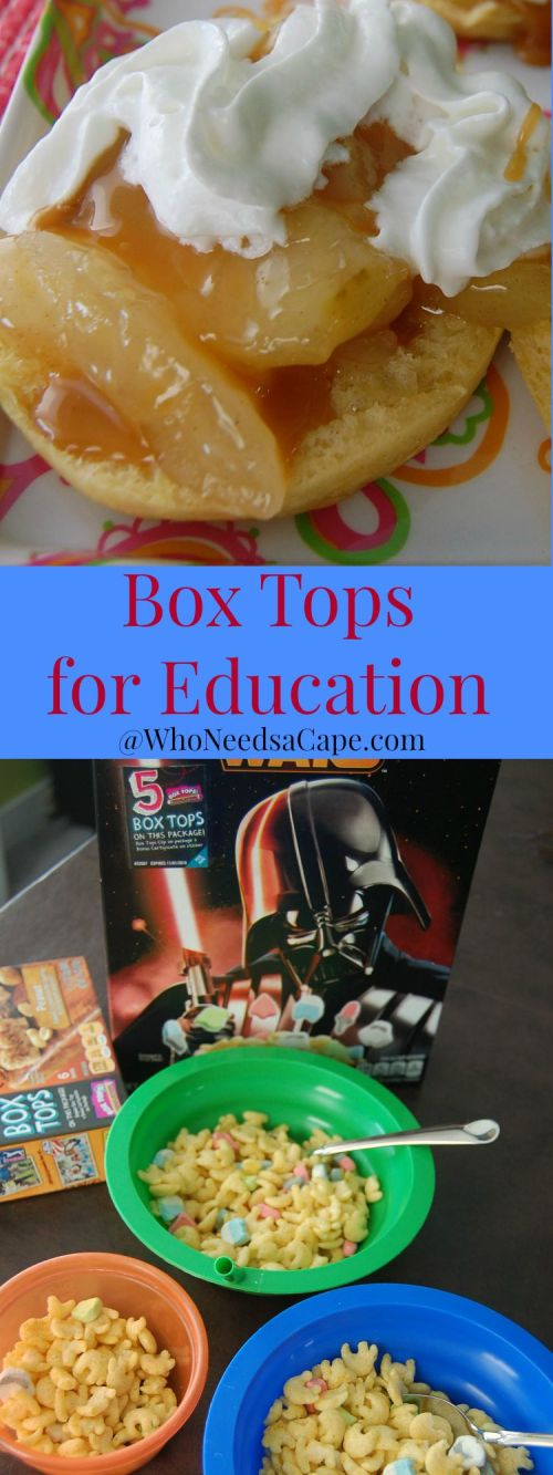 Support Your School with Box Tops for Education by simply purchasing delicious items you use everyday! Find out how to make Sweet Apples and Biscuits too!