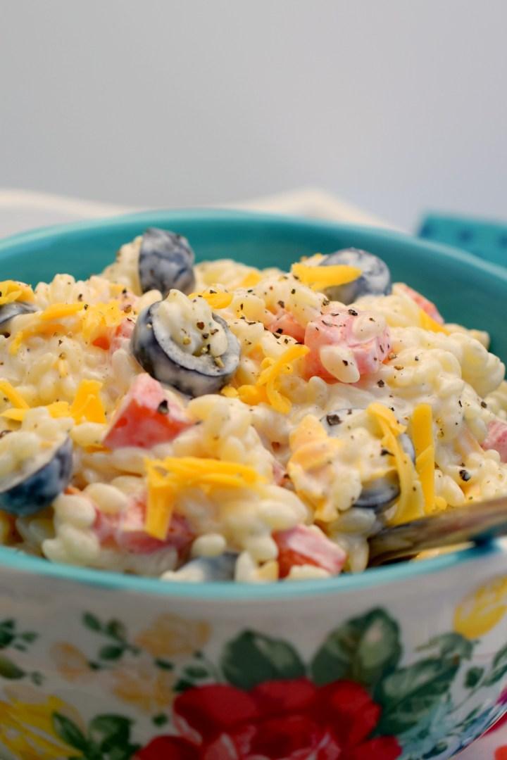 Orzo Ranch Pasta Salad
