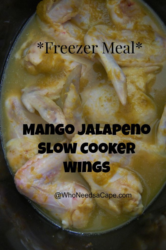 Mango Jalapeno Slow Cooker Wings are perfect to watch a game with or eat for dinner! Easy to make and packs a punch of flavor!