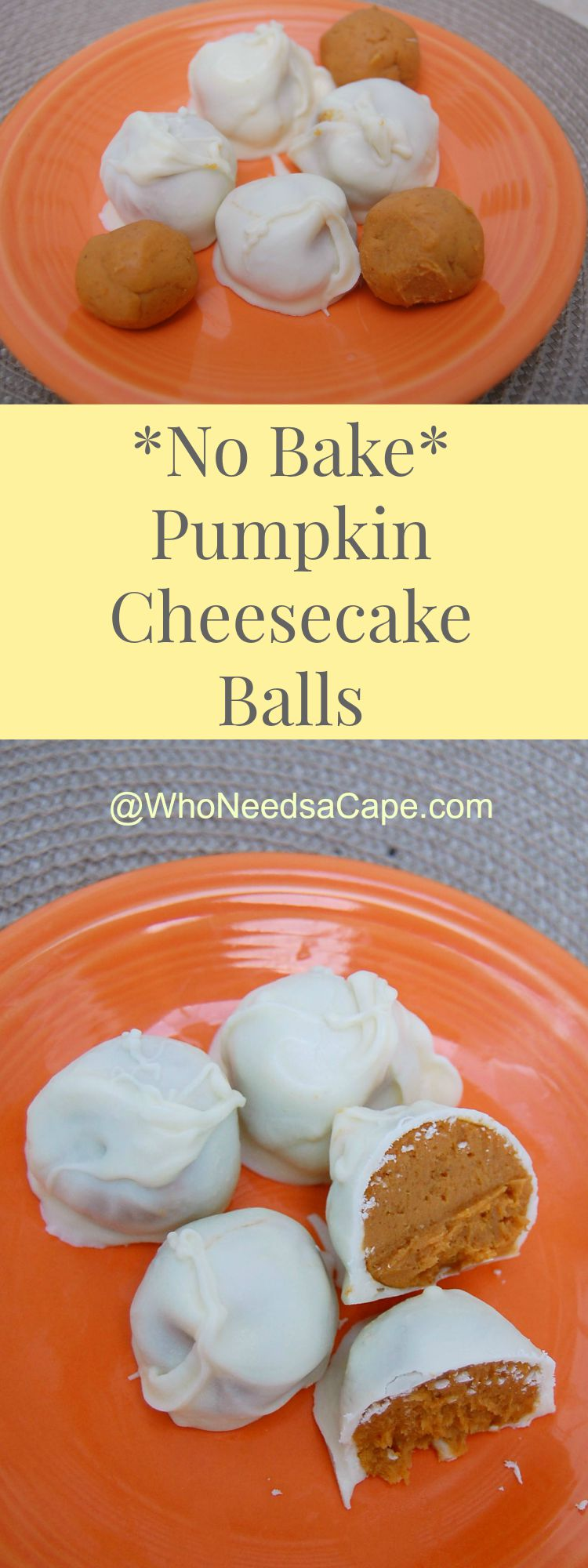 No Bake Pumpkin Cheesecake Balls 3
