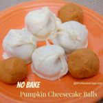 No Bake Pumpkin Cheesecake Balls