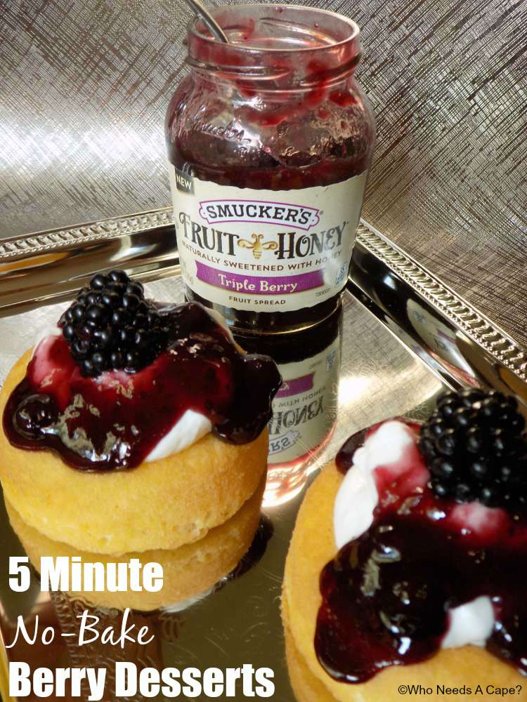 5 Minute No-Bake Berry Desserts