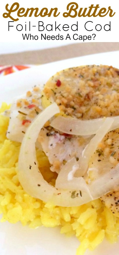 Fast and delicious, this Foil-Baked Lemon Butter Cod is the perfect dish for busy nights. A fancy seafood dinner with very little prep.