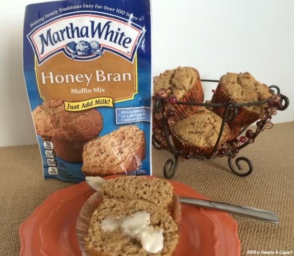 These Honey Bran Applesauce Muffins start with a Martha White® Muffin Mix. By simply adding applesauce and a touch of yogurt the results are delicious.