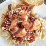 Bacon-Wrapped Shrimp Pasta