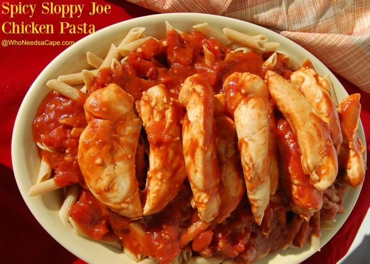 Spicy Sloppy Joe Chicken Pasta 4