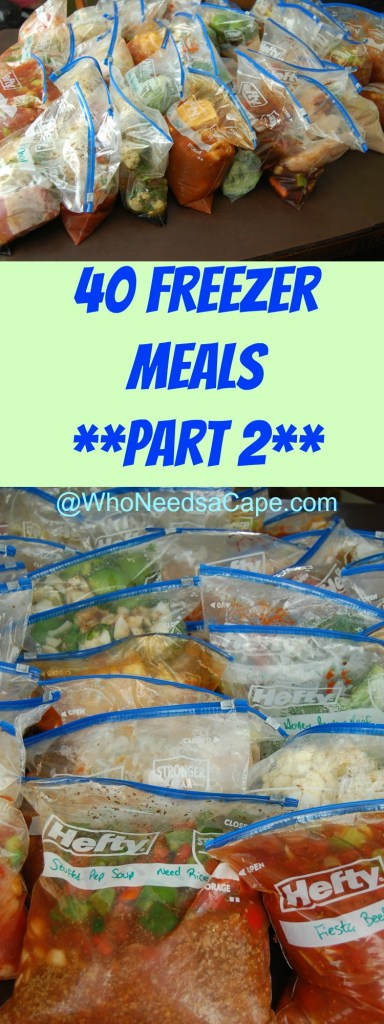 40 Freezer Meals Part 2 1