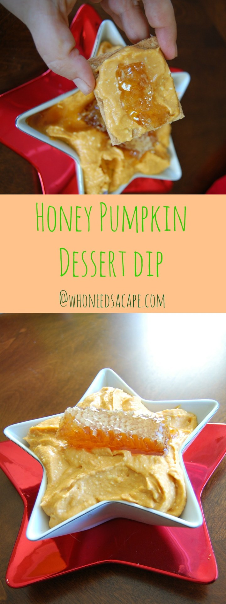 Honey Pumpkin Dessert Dip is a simple *NO BAKE* dessert dip. It will be perfect for any holiday occasion and looks great on the dessert table!