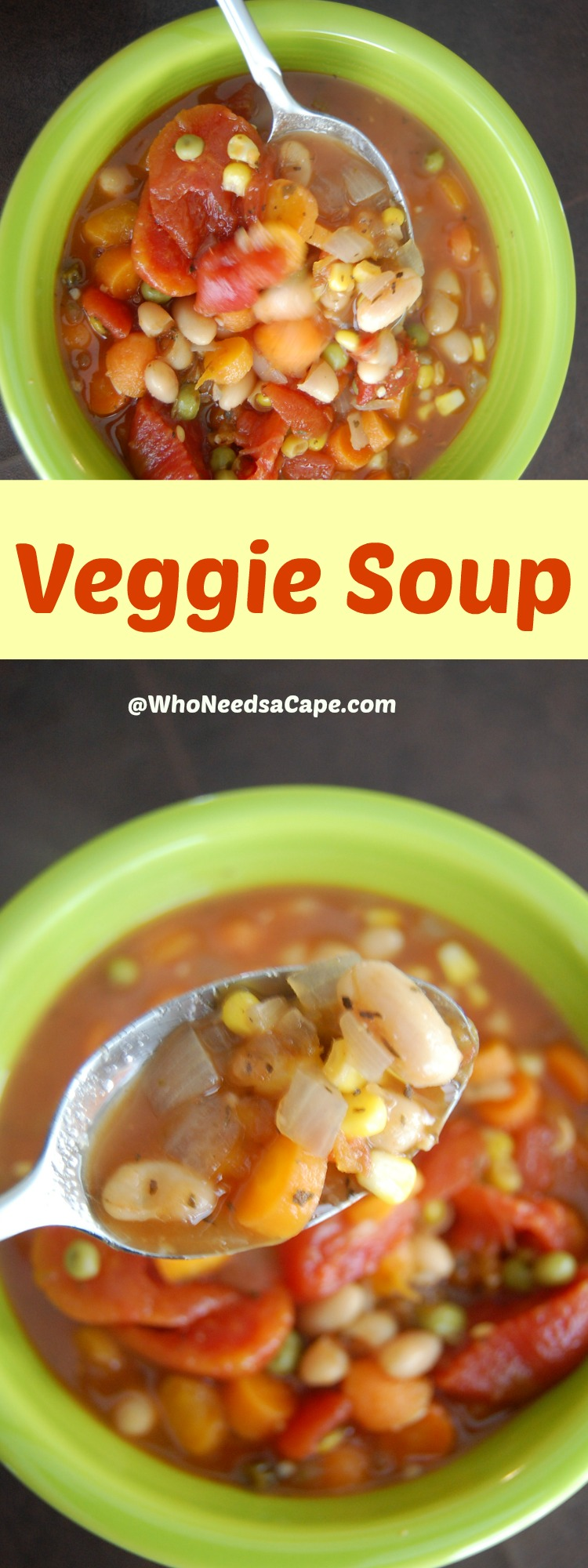 Veggie Soup - this recipe has almost no calories and is delicious. You can eat as much as you want and still drop a few pounds! A MUST Pin