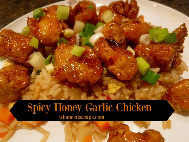 Who needs carry-out for dinner when you can create Spicy Honey Garlic Chicken at home for family dinner. This is one flavor loaded dish!