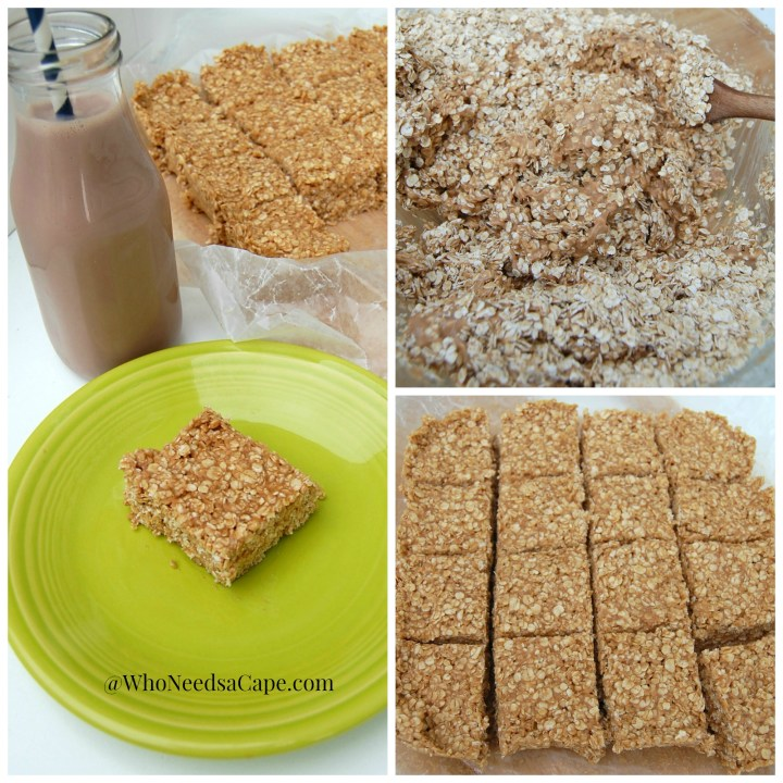 Chocolate No-Bake Oatmeal Bars Perfect After School Snack