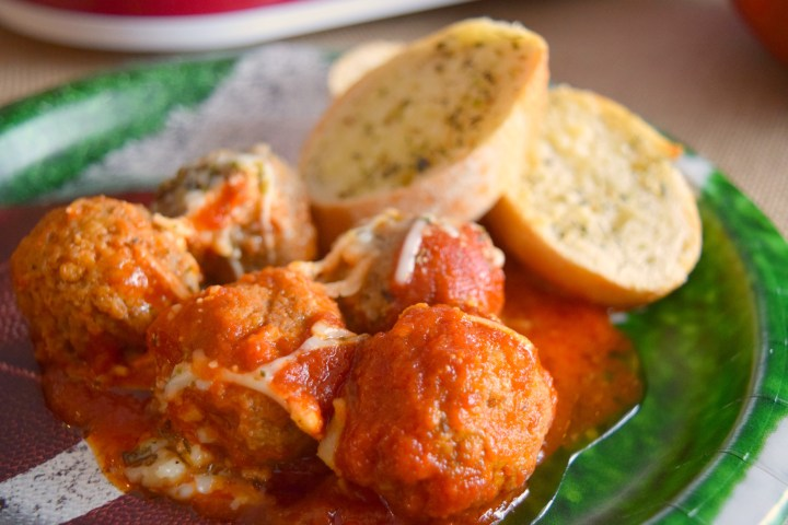 Slow Cooker Meatball Casserole is perfect for game day spreads! Easy to make in your crockpot making it ideal for buffets and parties.