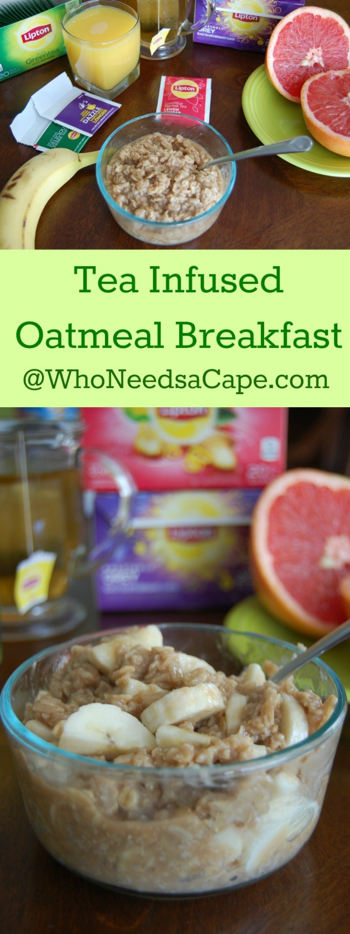 Tea Infused Oatmeal Breakfast is a power breakfast that will get you started in the morning! Enjoy a delicious hot breakfast ready in minutes!