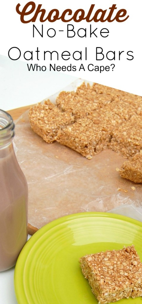 Get rid of those after school hunger pains with these really simple Chocolate No Bake Oatmeal Bars! Easy and nutritious (plus your kids will love them).