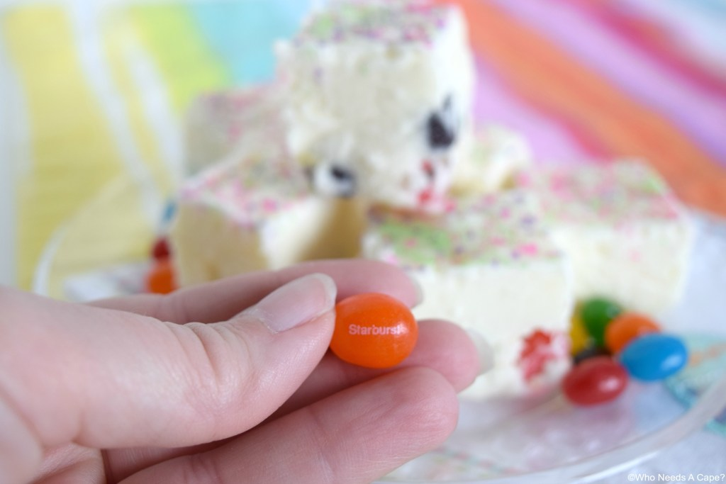 Yummy Jellybean Fudge is the perfect treat for Easter! Creamy white fudge loaded with tasty jellybeans! A great dessert your guests will love.