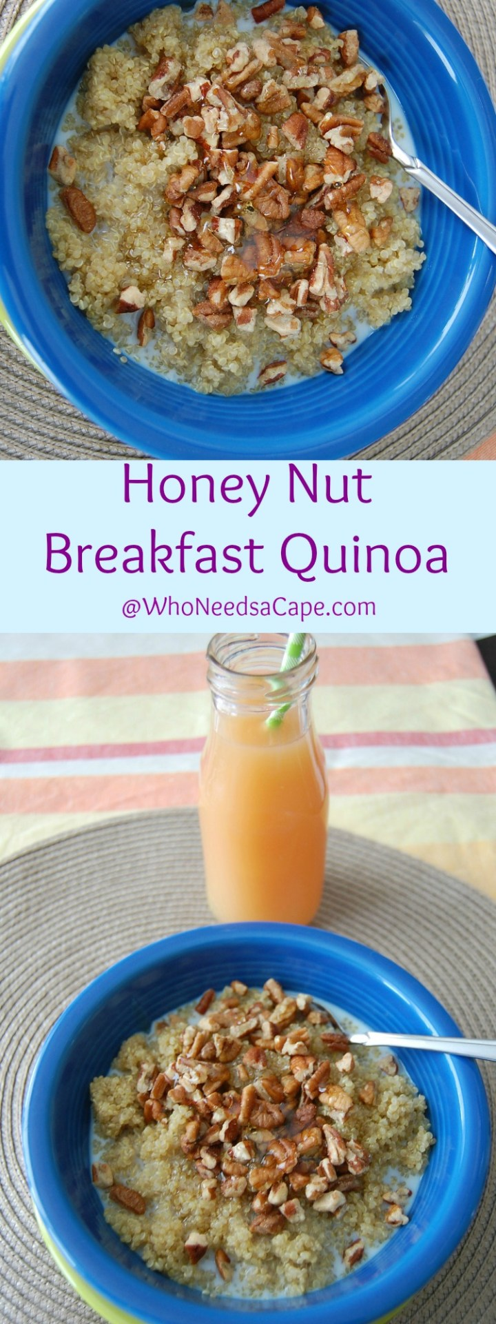 Honey Nut Breakfast Quinoa is a nutritious and delicious way to start your day!