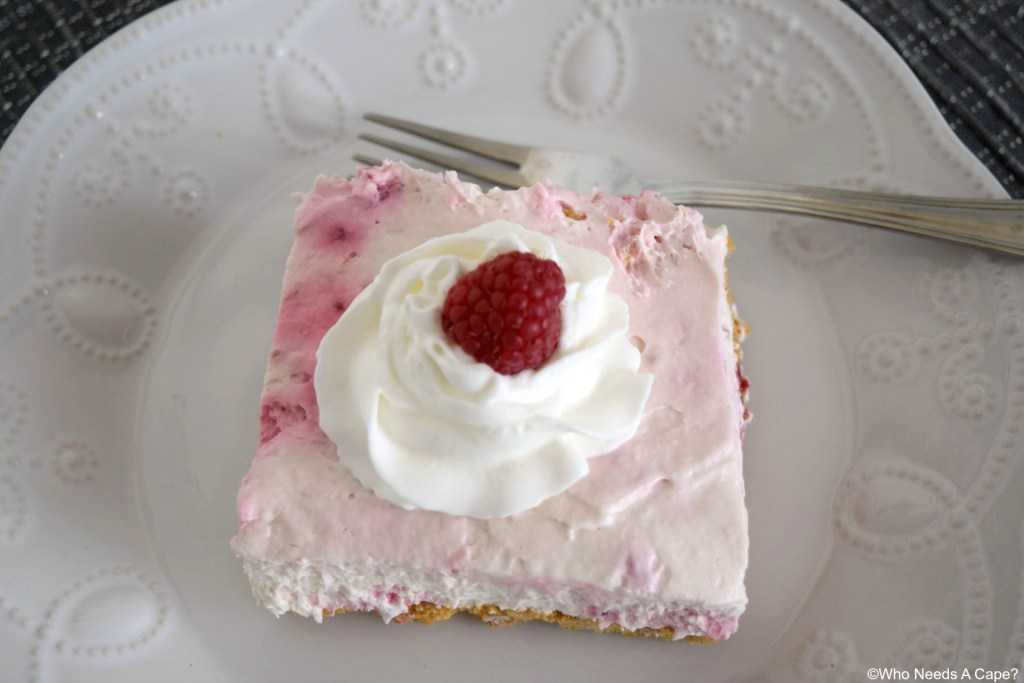 Creamy, dreamy and oh so good! This easy Raspberry Cream Cheese Dessert is practically no-bake and full of fruity goodness.