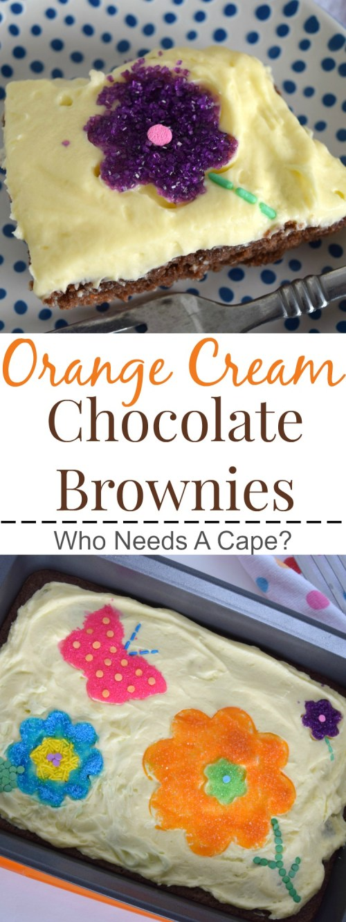 You'll love these Orange Cream Chocolate Brownies! Perfect for a cookout or BBQ, they are delicious and oh so simple to prepare. | Who Needs A Cape?