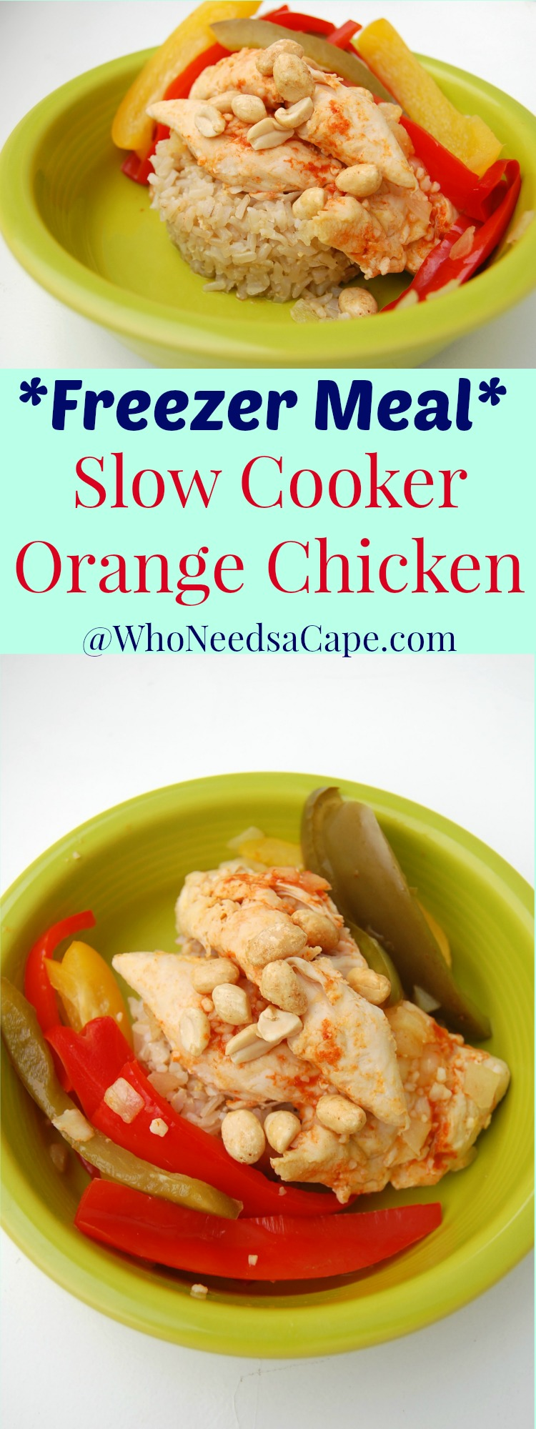 Slow Cooker Orange Chicken is a fantastic Freezer Meal - great flavor, easy - perfect for any night!