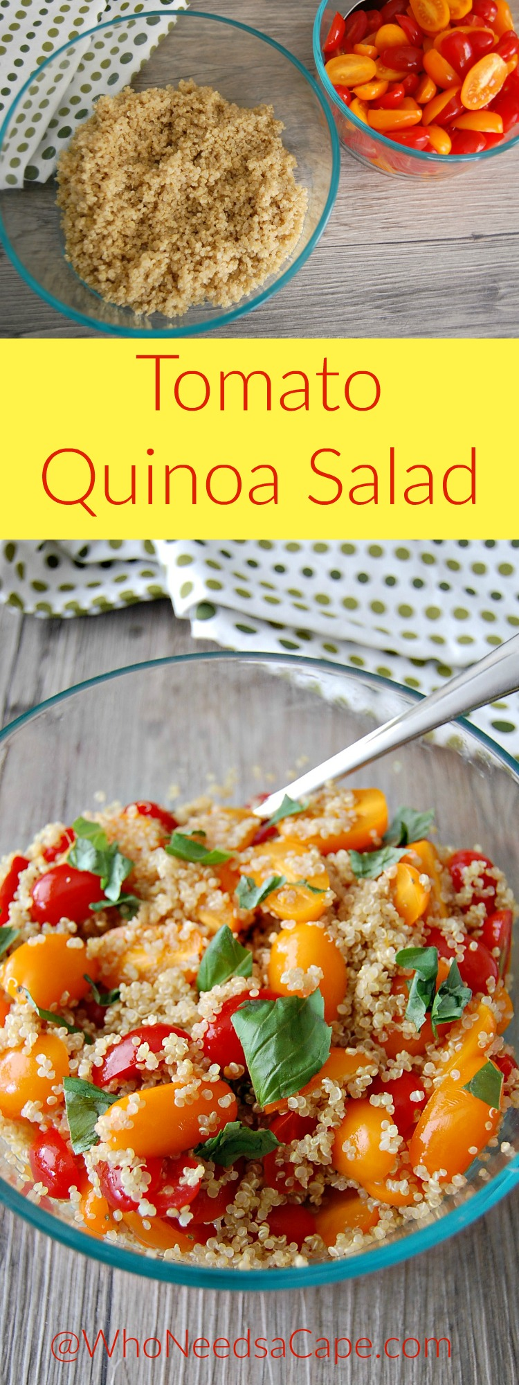 Tomato Quinoa Salad is so good - bonus of being healthy and good for you! Perfect Summer side dish