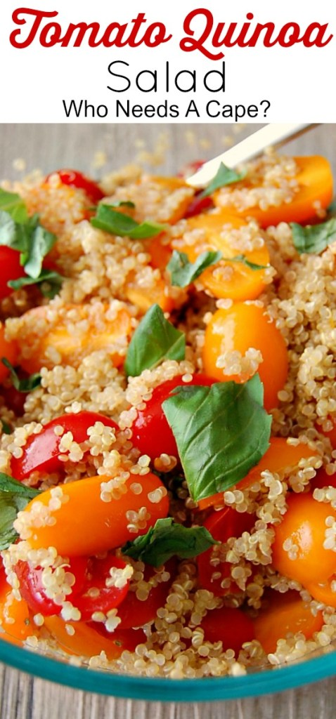 Tomato Quinoa Salad is a great summer salad. It's good for you and super tasty.Great side dish for BBQ's or parties, deliciously simple!