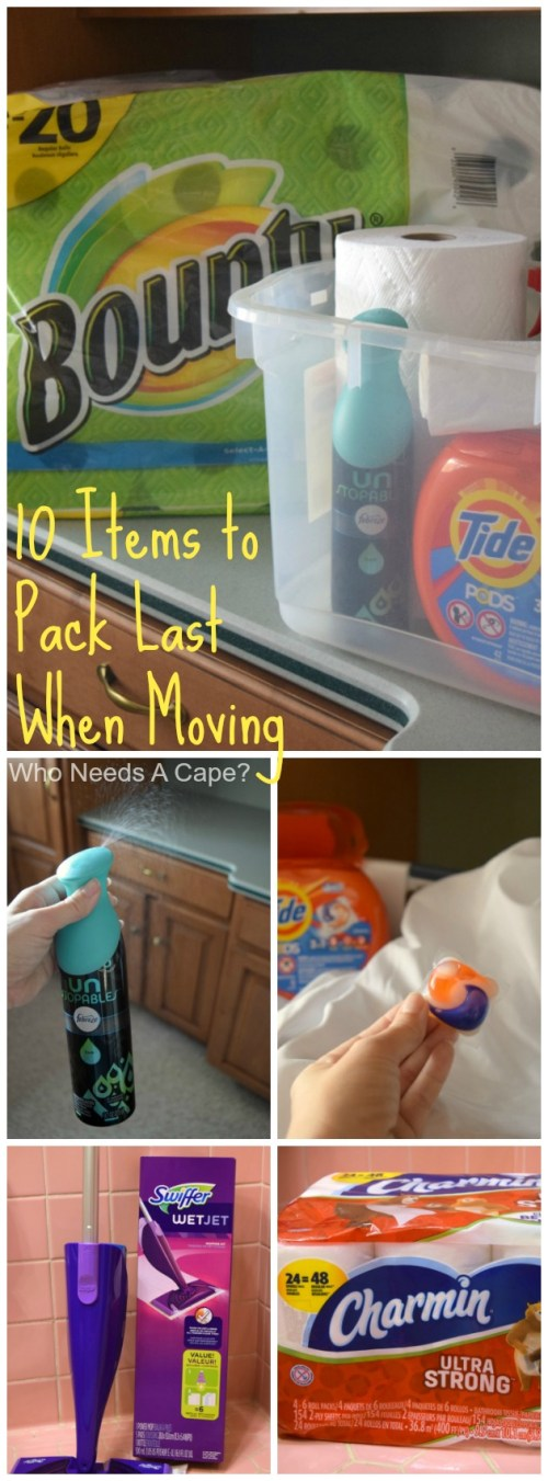 After moving a few times I have developed a list of 10 Items to Pack Last When Moving. Items that help you tidy up before heading out for the last time.