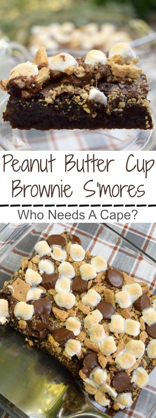 Take your summer s'mores to the next level! Make Peanut Butter Cup Brownie S'mores and enjoy this great family favorite campfire dessert.