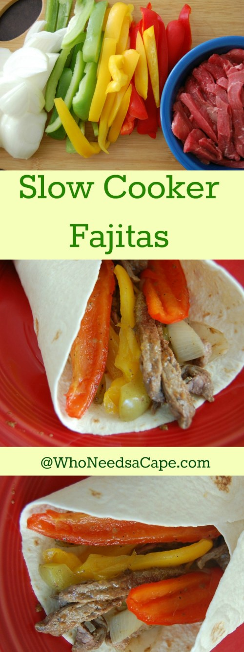 Slow Cooker Fajitas, a fantastic tasting meal that's easy to make!. A great freezer meal, prep ahead of time and make dinner simple. A true family favorite!