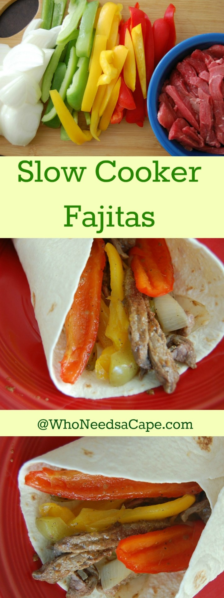 Slow Cooker Fajitas are the perfect dinner! A fantastic Freezer Meal - Part of 40 meals in 4 hours. Tasty and Easy