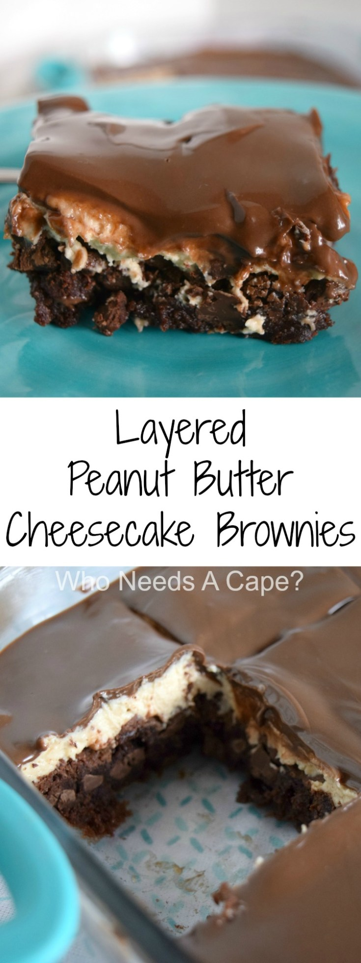 Layered Peanut Butter Cheesecake Brownies can only be described as amazing! Simple to prepare with layers of deliciousness, you'll love the flavor combo.