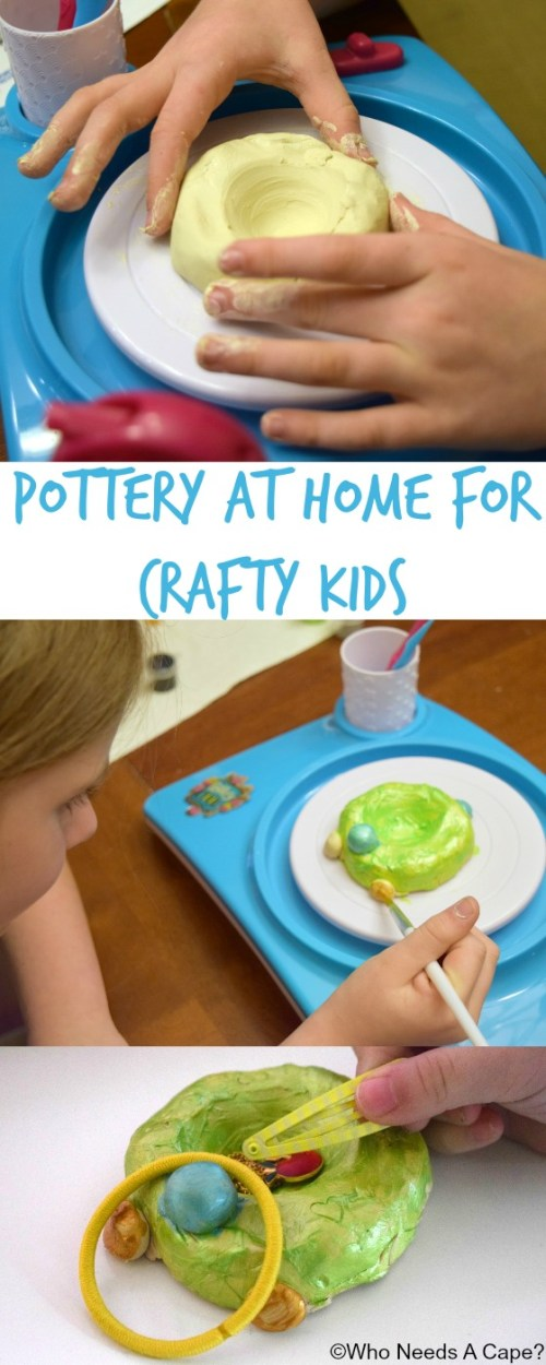 Pottery at Home for Crafty Kids is easier than you'd think. If you have a child who loves to release their creativity I have the perfect item for you.