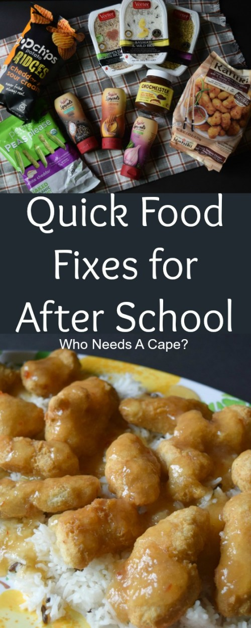 Sharing some Quick Food Fixes for After School that'll satisfy everyone in the house. Even a fast dinner for those super busy nights.