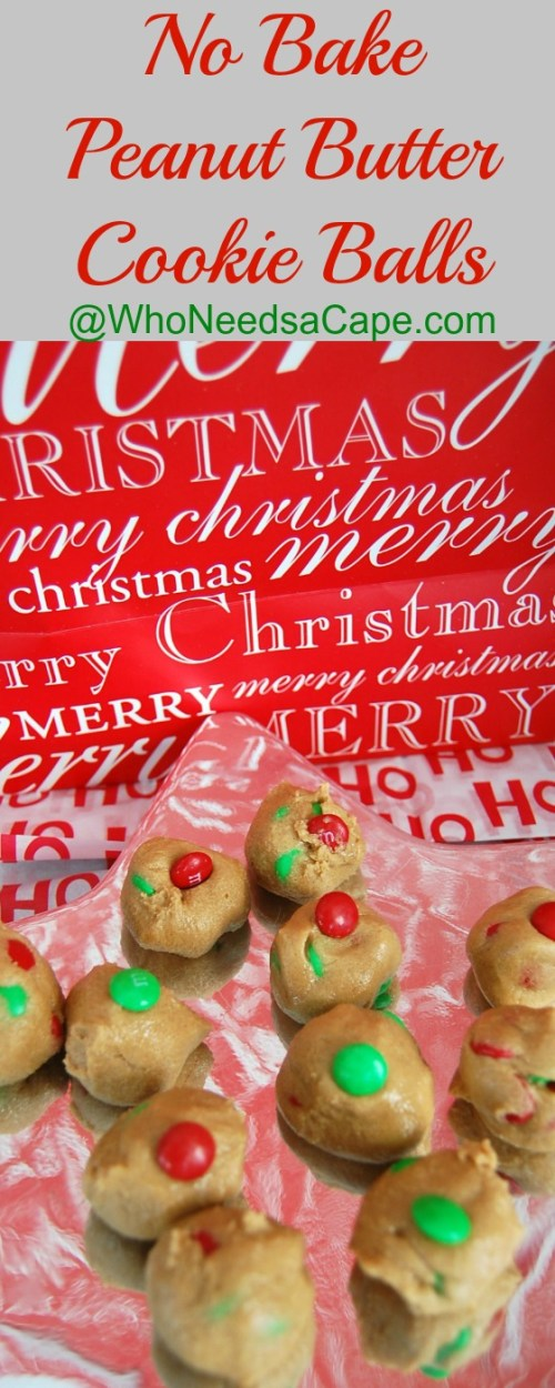 No Bake Peanut Butter Cookie Balls a super yummy and easy to make holiday treat. Great for Christmas cookie trays and exchanges.