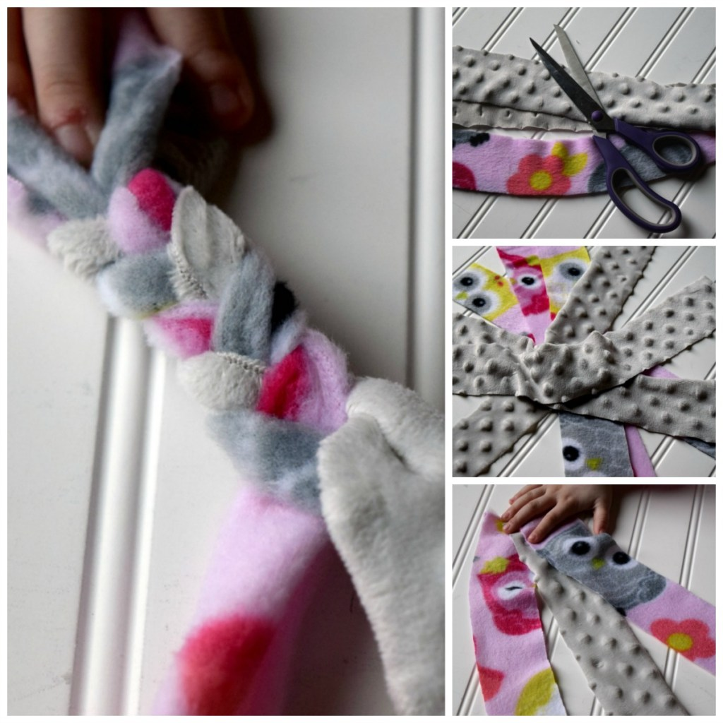 Have scraps of fleece fabric laying around? Make a DIY Fleece Dog Toy, super easy to make. Fun project to do with your kids or grandkids.