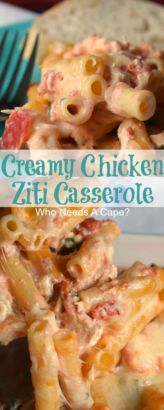 Creamy Chicken Ziti Casserole
