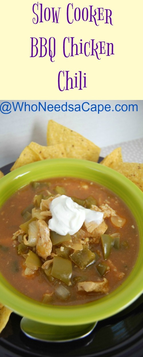 Slow Cooker BBQ Chicken Chili is a delicious way to change up your chili routine! Throw in the ingredients into your crockpot and BAM, dinner is done!