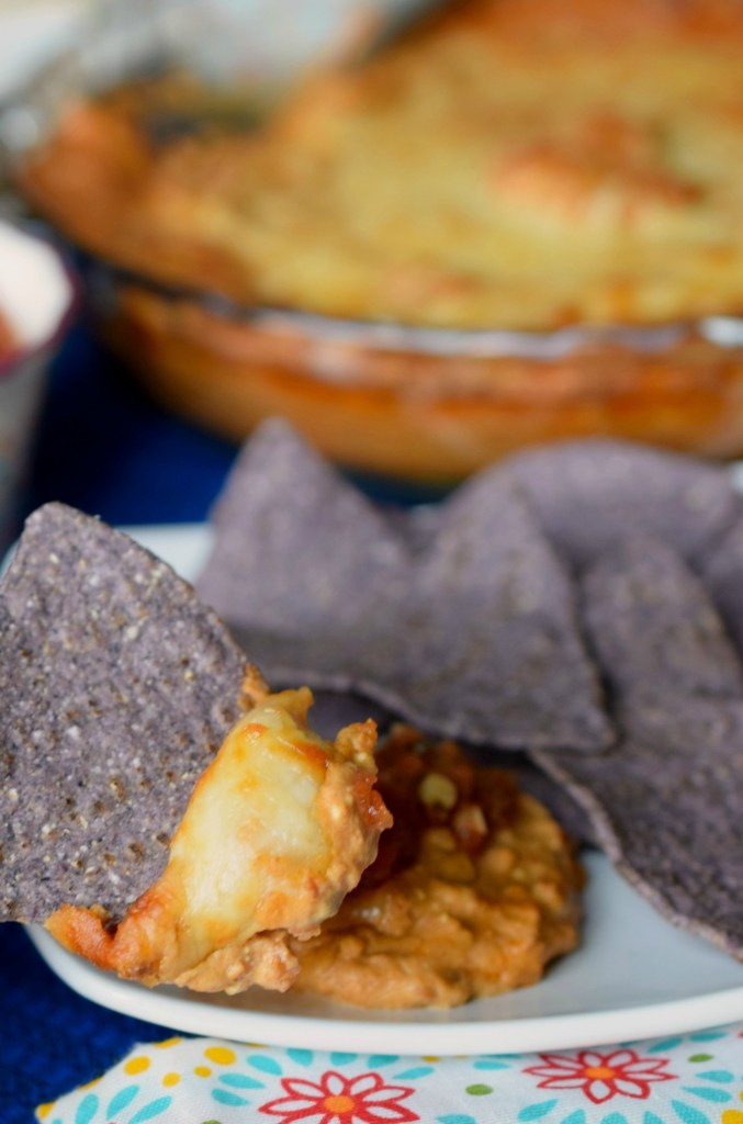 Creamy Chorizo Bean Dip is snap to prepare but delivers delicious flavors worthy of the best tortilla chips. Great appetizer for tailgating or parties too.